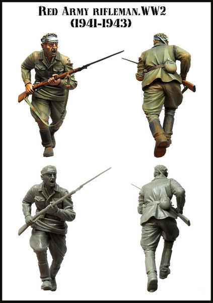 Red Army Rifleman. WW2. Set-3 (1941-1943)