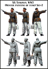 SS Tankman. WW2 (Winter Painting of Tank) Set-2