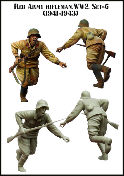 Red Army Rifleman. WW2 Set-6 (1941-1943)