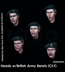 RDM35H03 Heads w/British Army Berets (CLY) 5pcs.