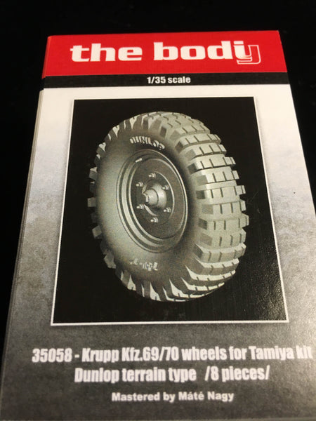 Krupp Kfz. 69/70 wheels for Tamiya Kit Dunlop terrain type /8 pieces/