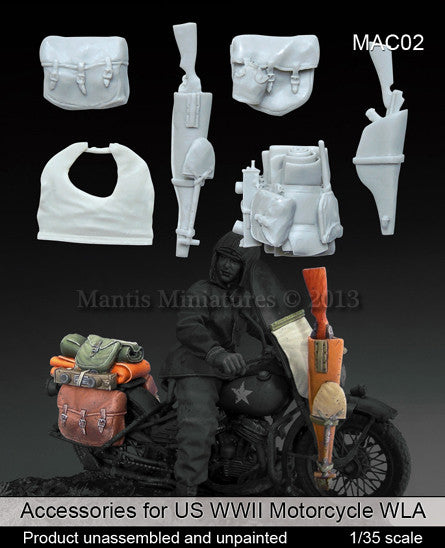 Accessories for US WWII Motorcycle WLA