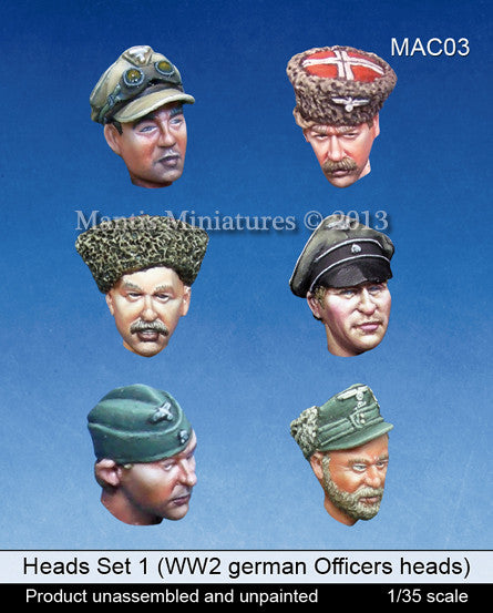 Head Set 1 (WW2 German Officers and Cossacks)