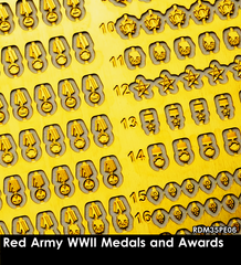 RDM35PE06 Red Army WW2 Medals and Awards 1/35