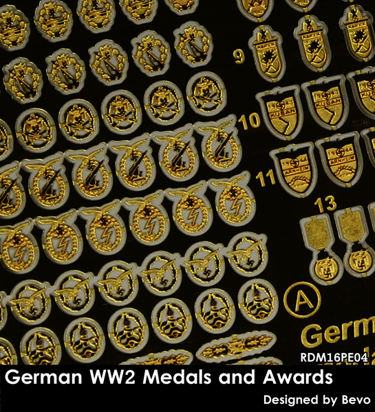 RDM16PE04 German WW 2 Medals and Awards set