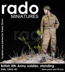 RM35008 British 8th Army Soldier, Standing 1943-45. (Extra parts and PE)