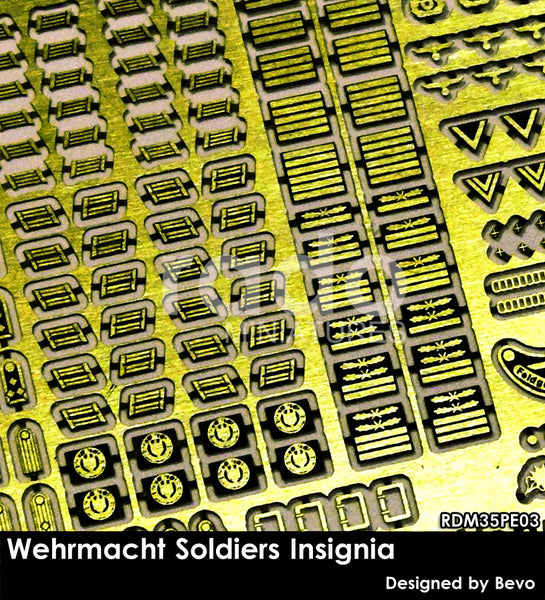 WH Soldiers Insignia Set, 1/35