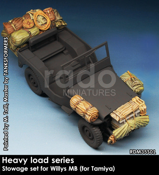 Heavy Load Series, Stowage set for willys MB (tamiya)