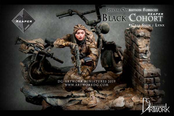 Black Cohort Lynx (with bike and base)
