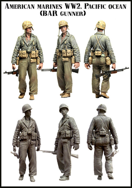 US Marines WW2, BAR Gunner, Set 3 (Pacific Area)