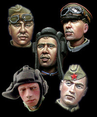 H013 WW2 Russian Heads #1