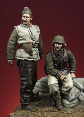 Hungarian Motorized Artillery Officer And NCO