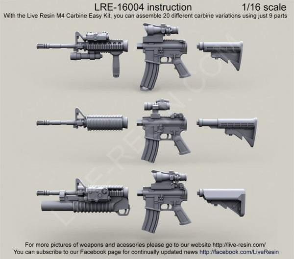US Army M4 Carbine Easy kit 1/16 scale