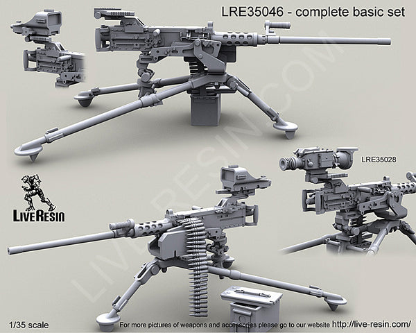 LRE35046 M2 Browning .50 Caliber Machine Gun on M3 Tripod
