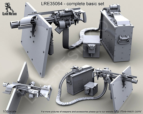 LRE35064 M134D Minigun with Picatinny top rail