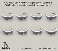 ES Crossbow Goggles Ballistic Eyeshields (transparent resin parts)