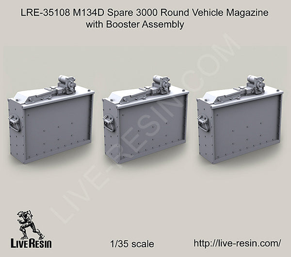LRE35108 M134D Spare 3000 Round Vehicle Magazine with Booster Assembly