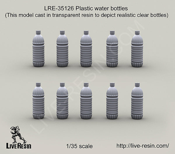 LRE35126 Plastic Water Bottles (clear plastic kit)