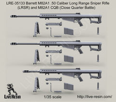 Barrett M82A1 .50 Caliber Long Range Sniper Rifle and M82A1 CQB