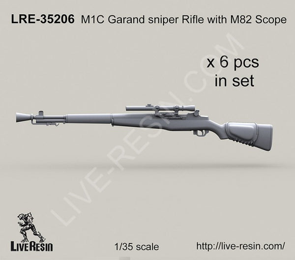 LRE35206 M1C Garand Sniper Rifle with M82 Scope