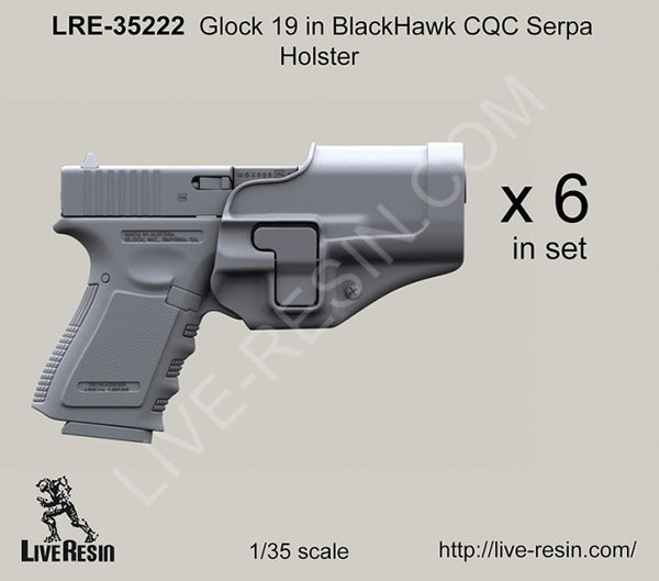 LRE35222 Glock 19 in BlackHawk Holster
