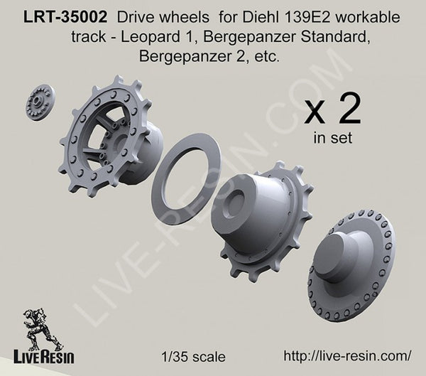 LRT35002 Drive Wheels for Diehl 139E2 Workable tracks