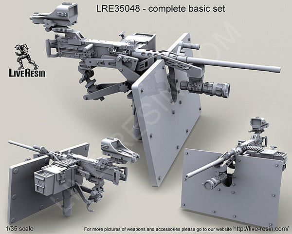 LRE 35048 M2 Browning .50 Caliber Machine Gun  with Save-A-Gunner shield