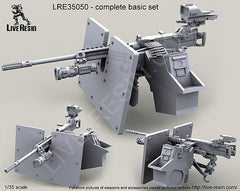 LRE35050 M2 Browning .50 Caliber Machine Gun with Hellfighter Mount Barrel Bracket