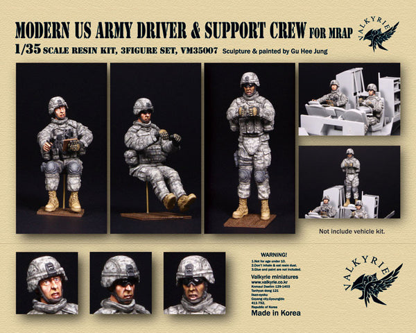 Modern US Army Driver & Support Crew for MRAP