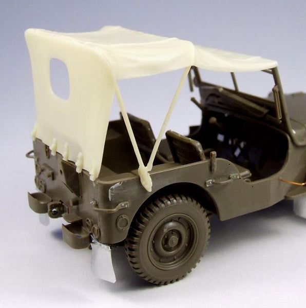 Willys Jeep Tarp for Tamiya Kit
