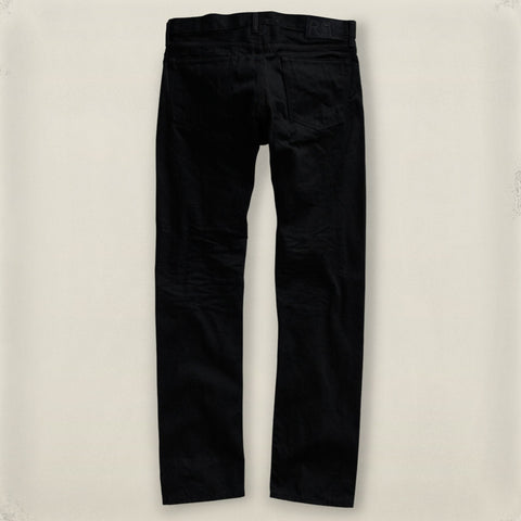 Slim Fit Black Wash Denim