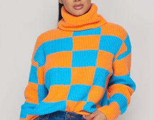 Exotic Checkers Sweater