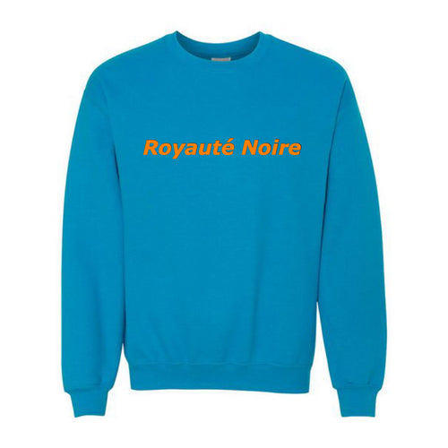 "Sapphire Blue/Safety Orange ""Black Royalty"" Crew Neck"