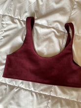 Load image into Gallery viewer, Suede Sports Bra