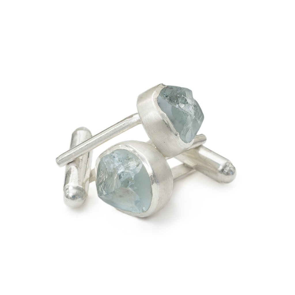 'Anchor' Aquamarine Cufflinks