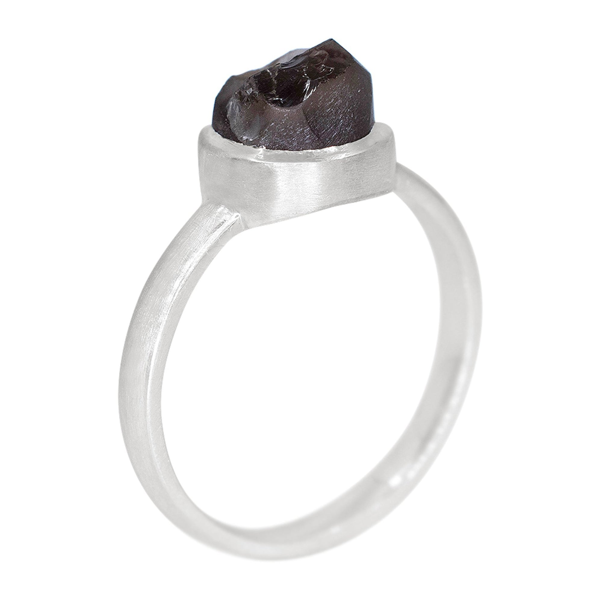 Smoky Quartz Stackable Ring