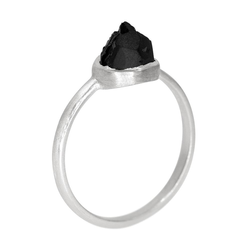 Black Tourmaline Stackable Ring