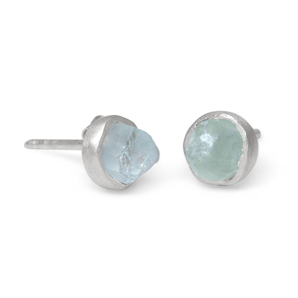 'Anchor' Aquamarine Mini Studs