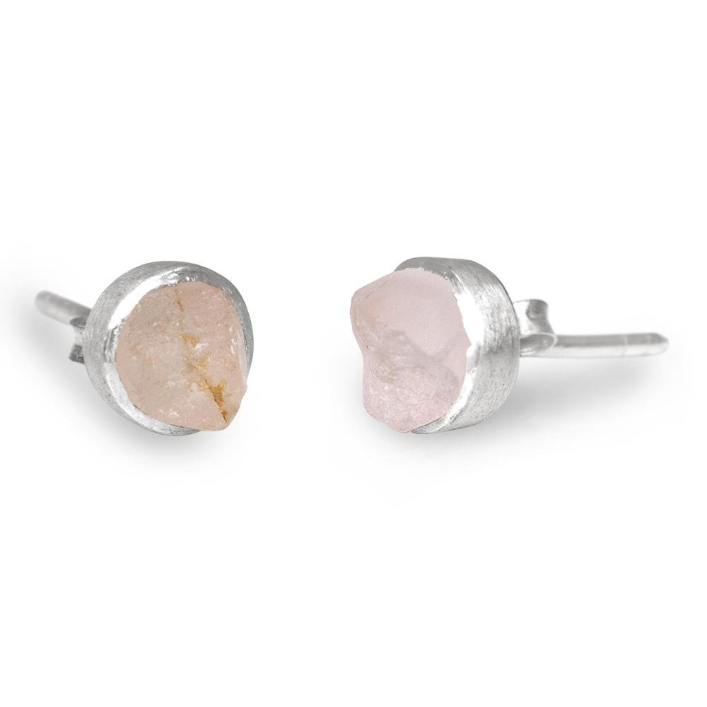'Lover' Rose Quartz Mini Studs