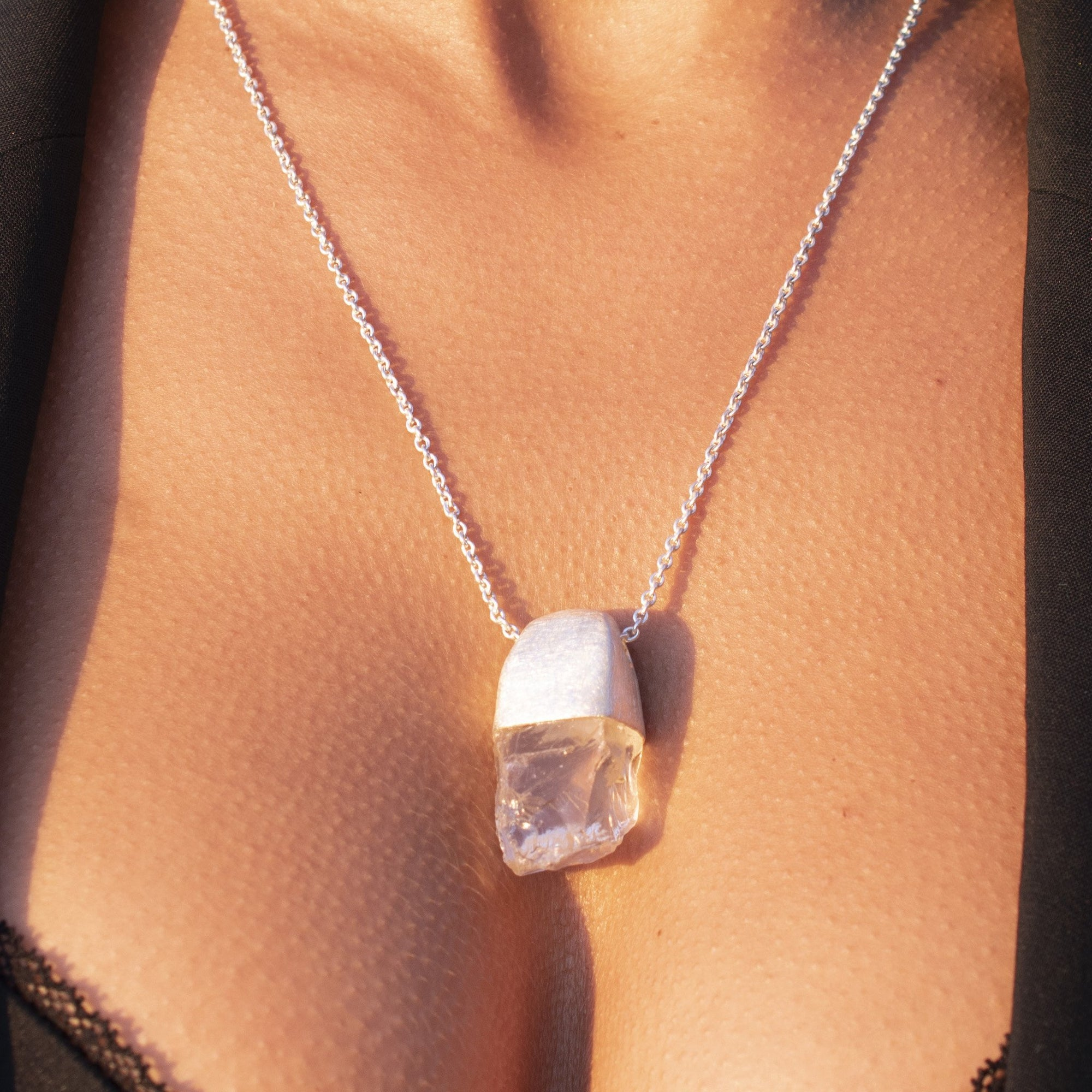 MAGNUM CLEAR QUARTZ PENDANT - One-of-a-kind