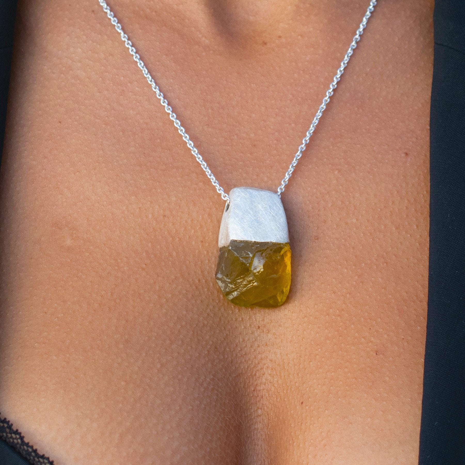 Magnum Lemon Quartz Pendant - One-of-a-kind