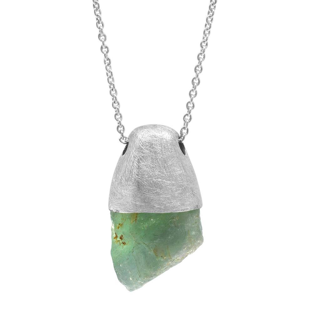 MAGNUM GREEN FLUORITE PENDANT - One-of-a-kind