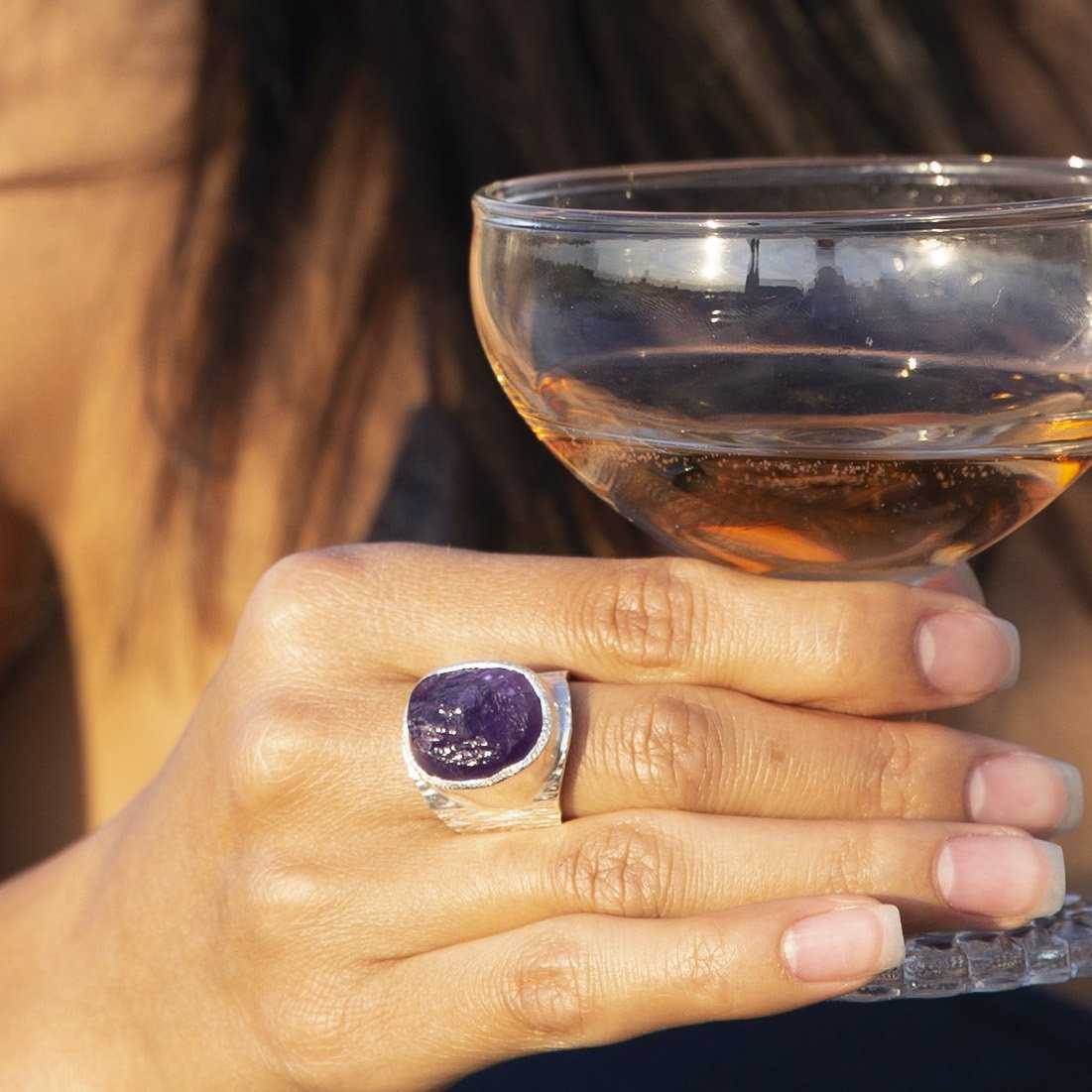'Taboo' Amethyst Macho Ring