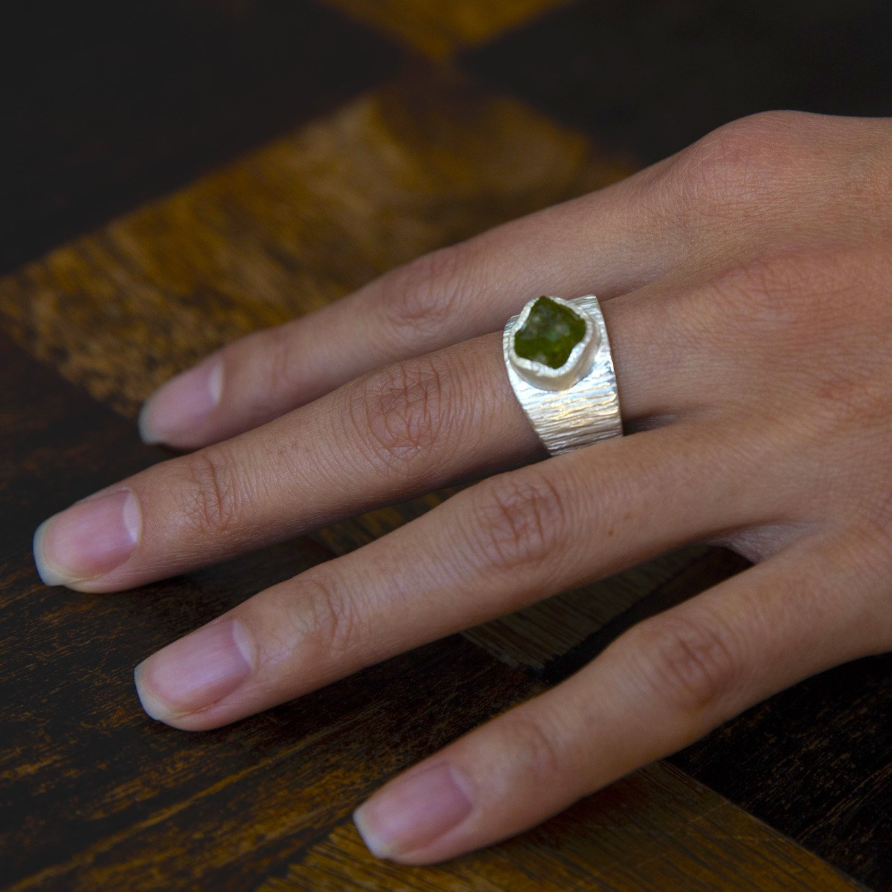 'Awaken' Peridot Macho Ring