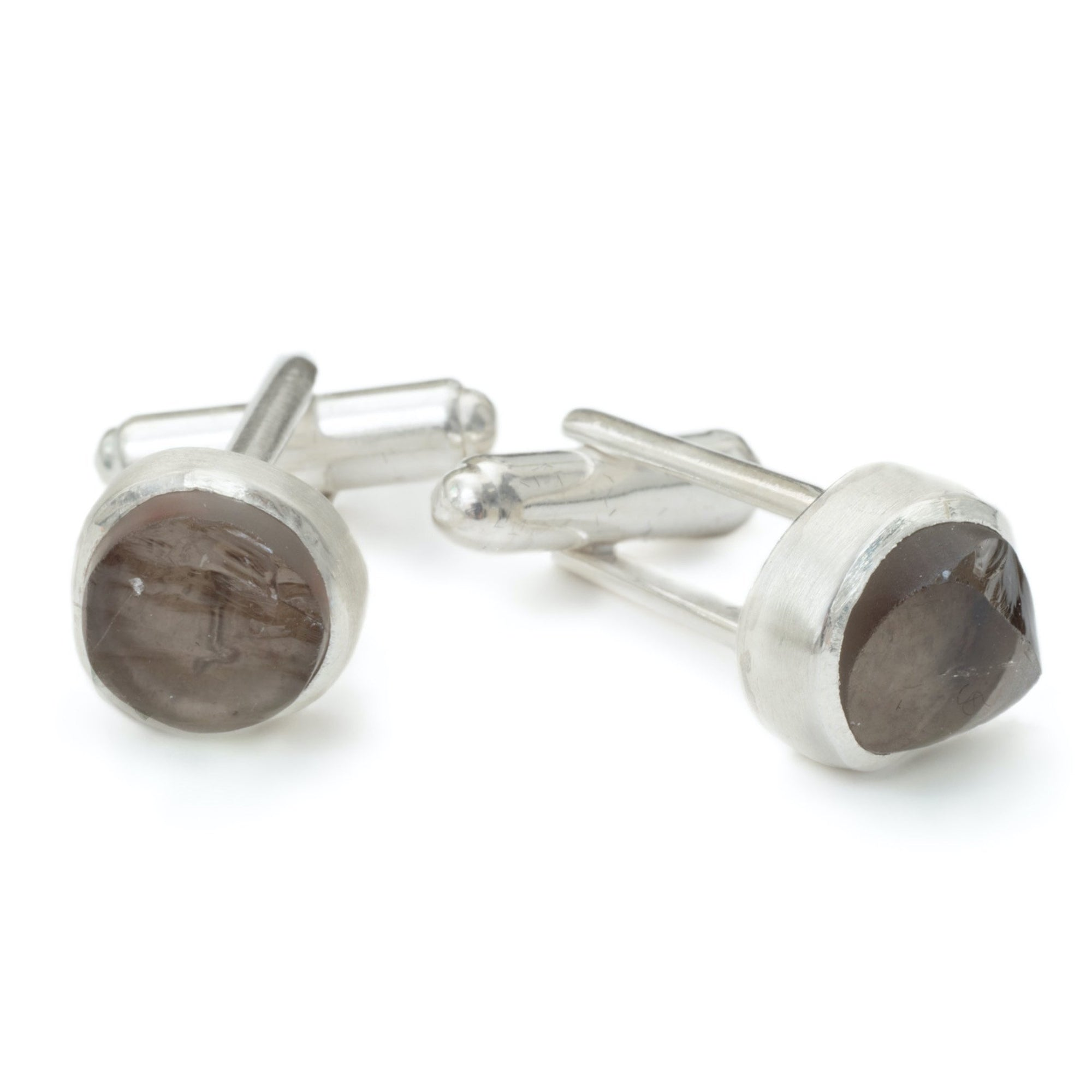'Enigma' Smoky Quartz Cufflinks