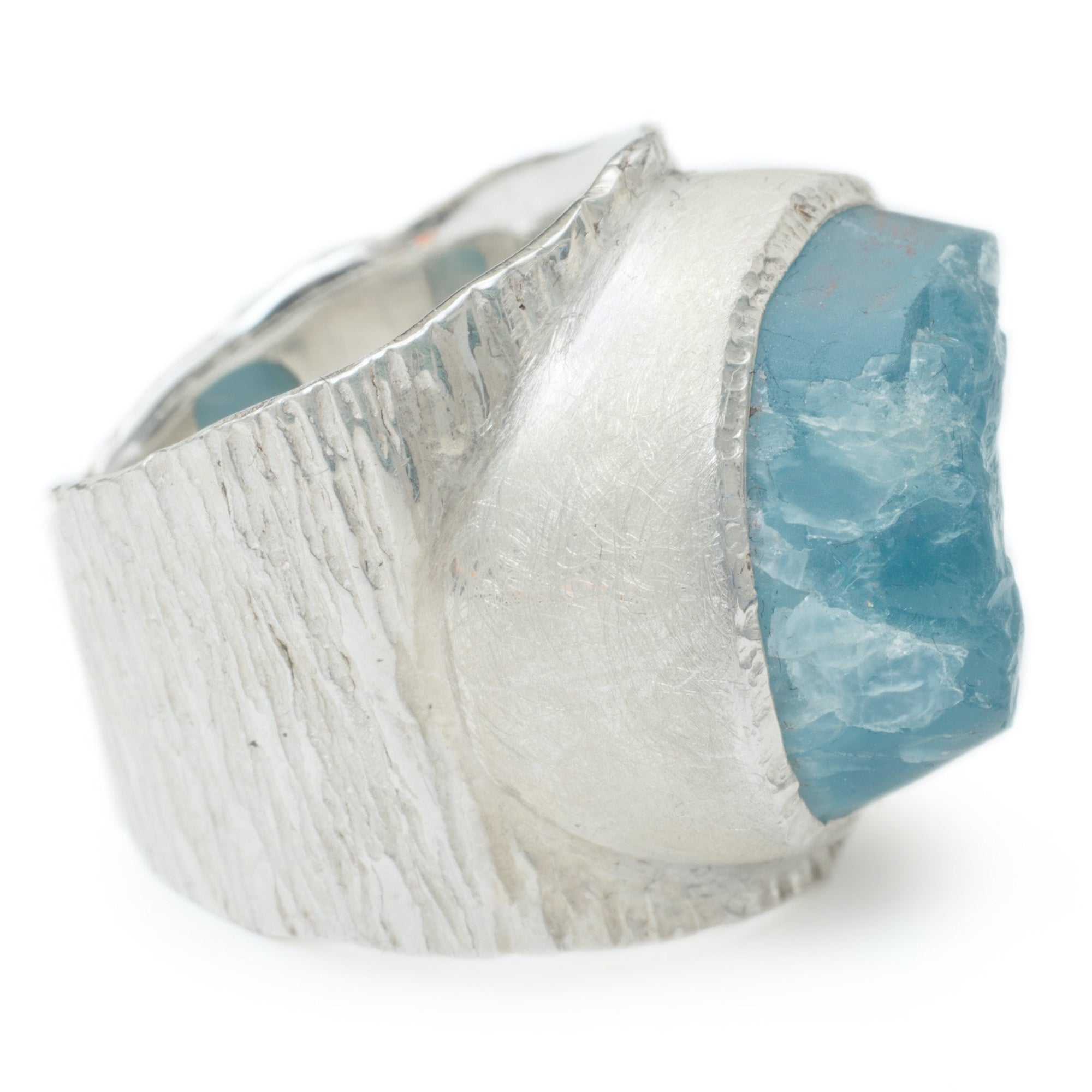 'Anchor' Aquamarine Macho Ring