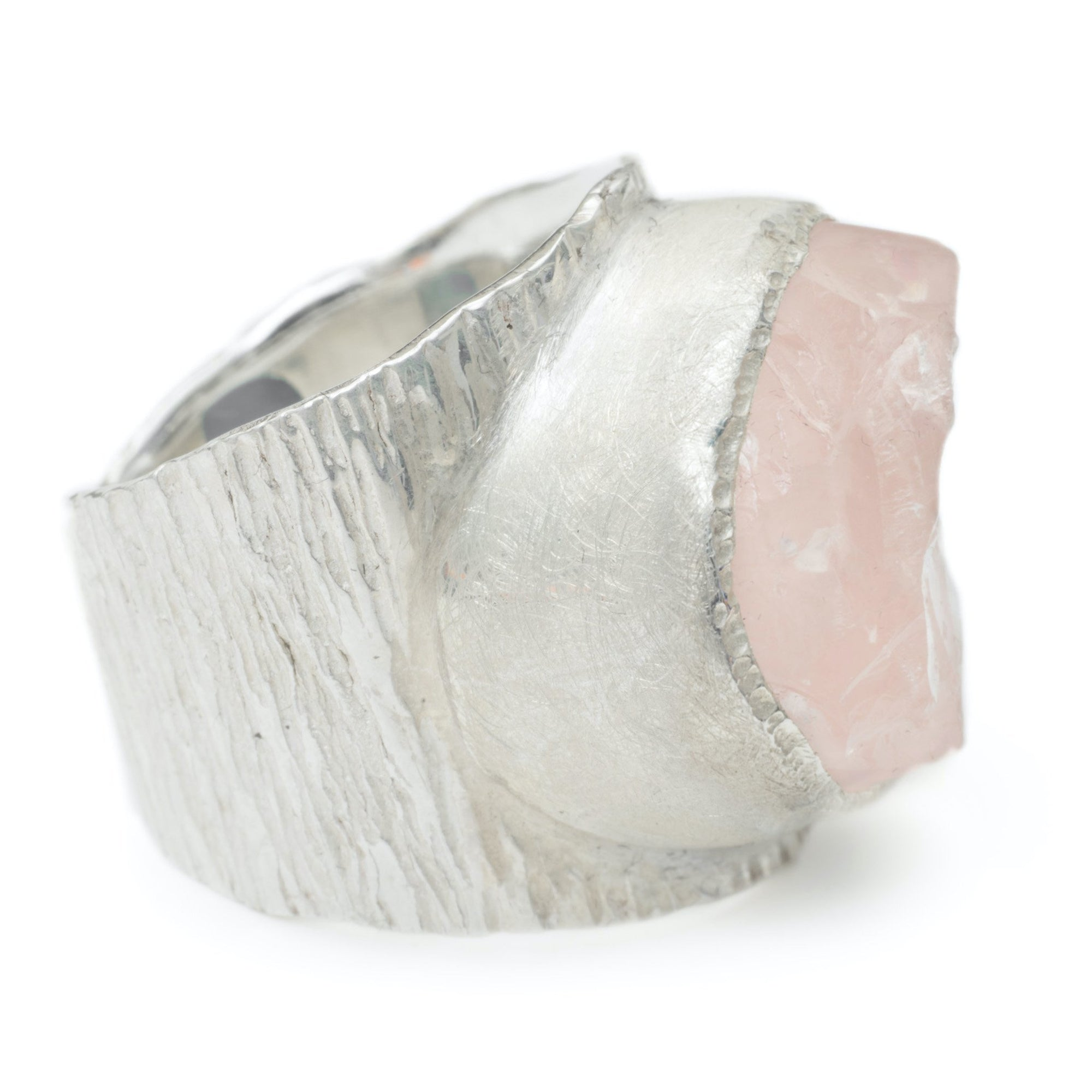 'Lover' Rose Quartz Macho Ring