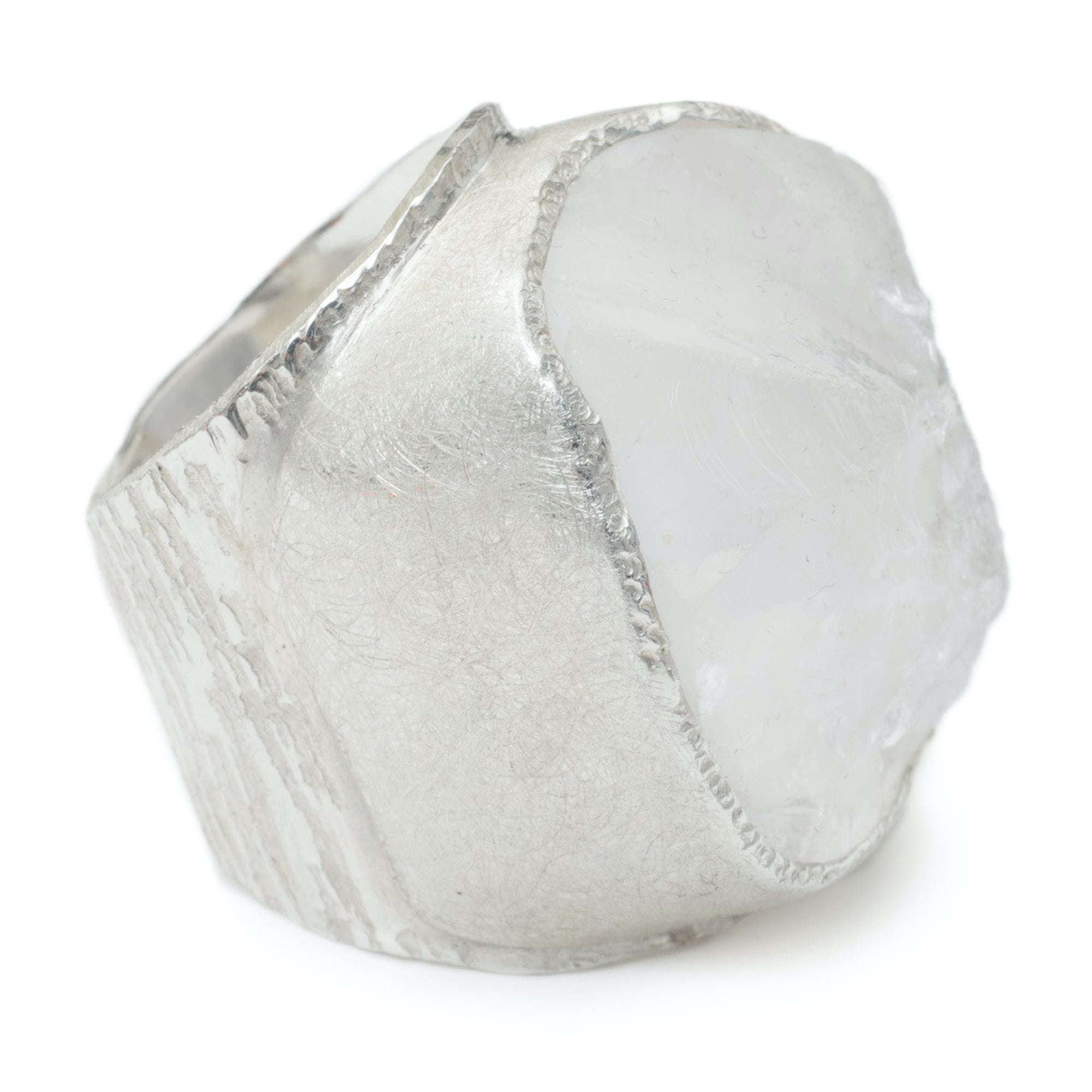 'Manifest' Clear Quartz Macho Ring - Large Stone
