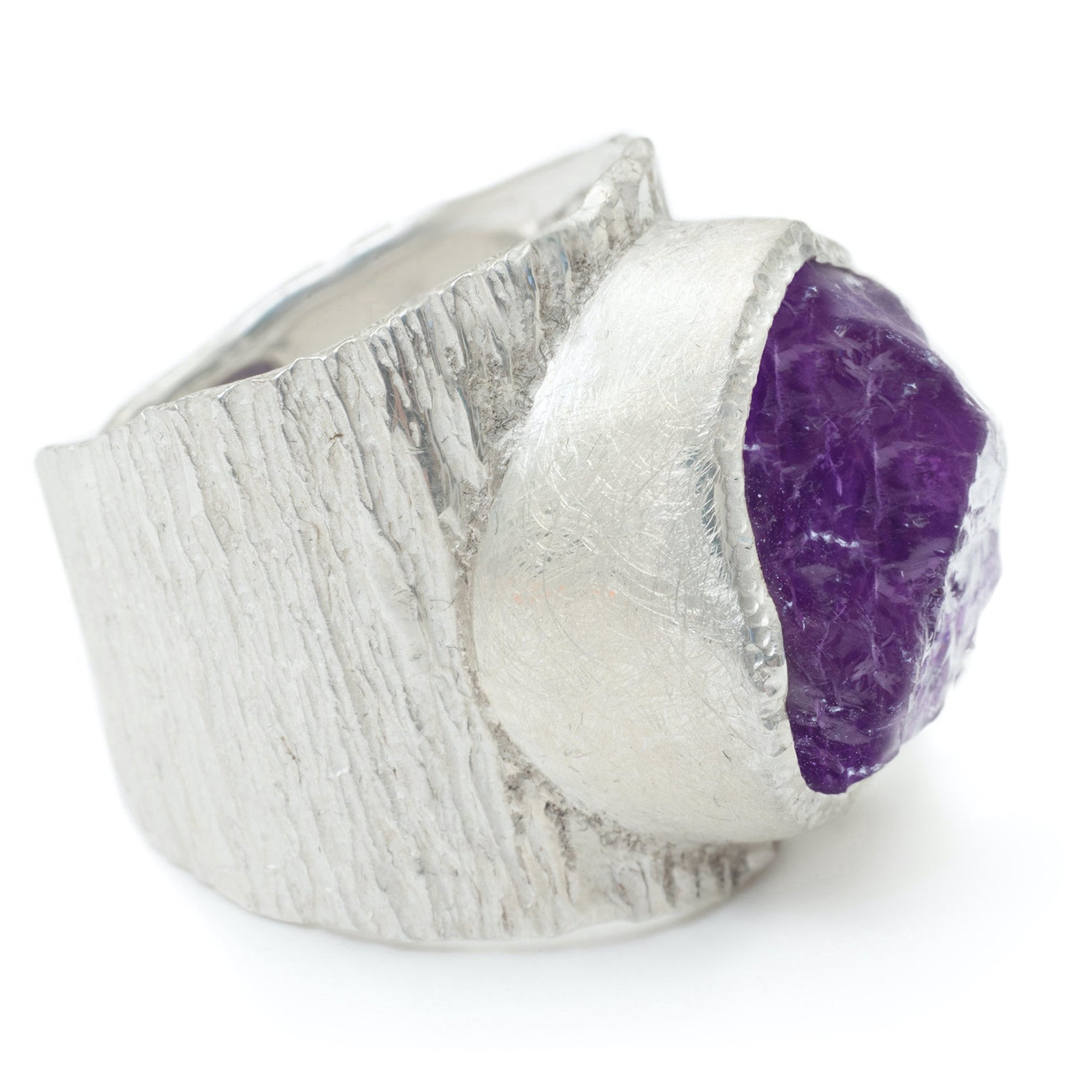 'Taboo' Amethyst Macho Ring - Large Stone