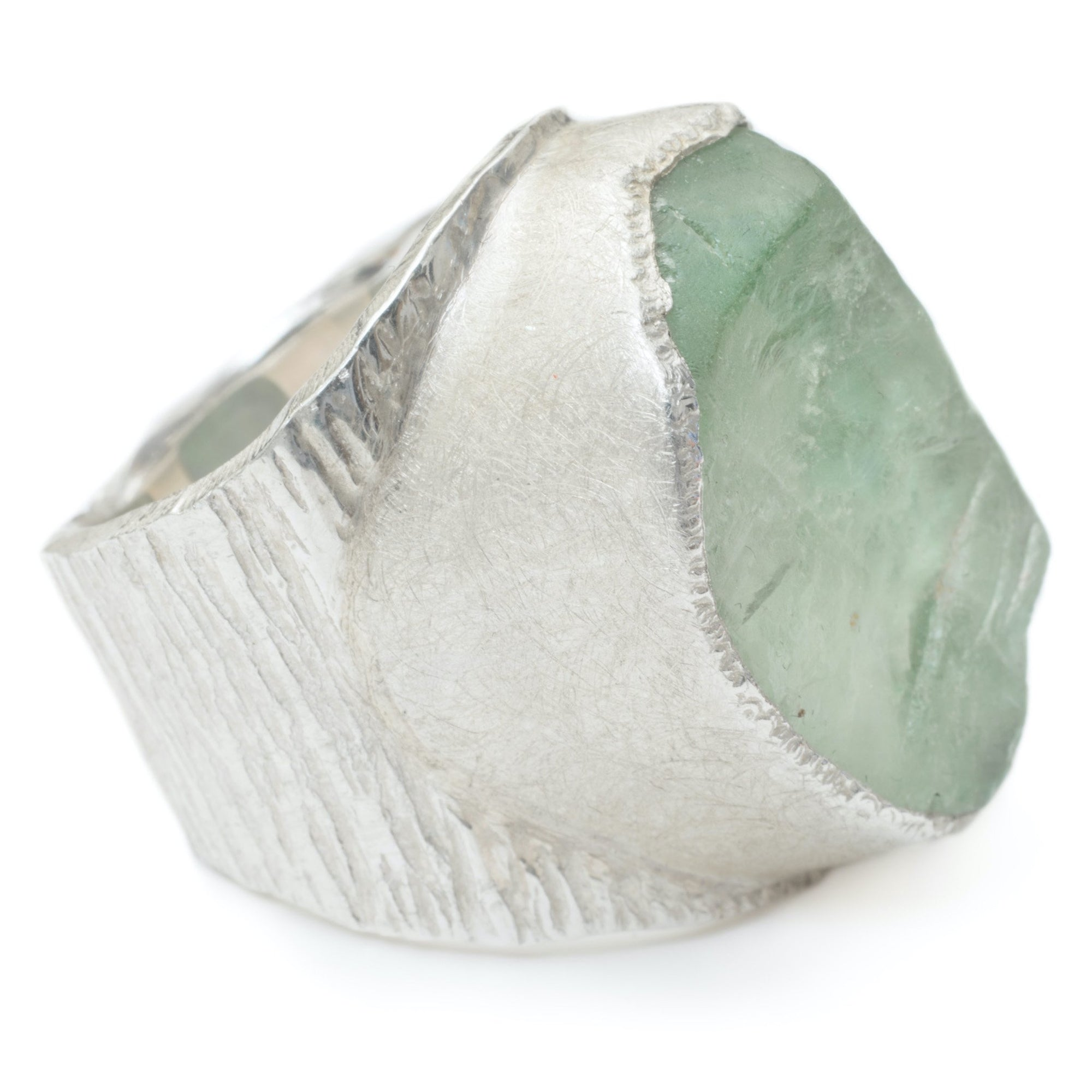 'Genesis' Green Fluorite Macho Ring - Large Stone